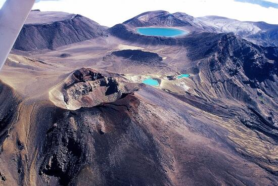 Aerial image of Mt Tongariro